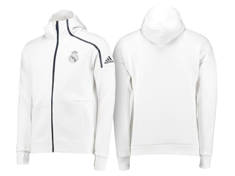 2cbffd74b Real Madrid White 2016-17 Anthem UCL Z.N.E. Hoodie