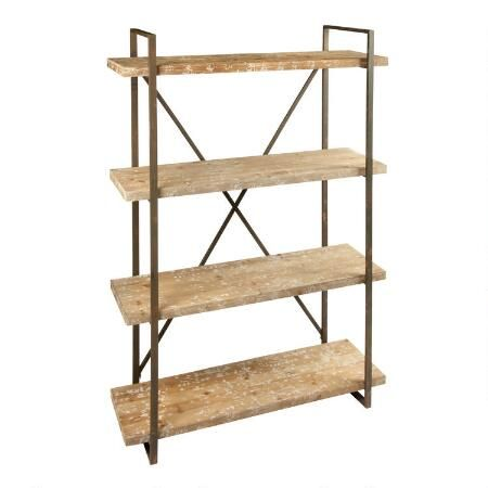 4-Tier Wood Shelf Metal Bookcase   Christmas Tree Shops $189.99 ...