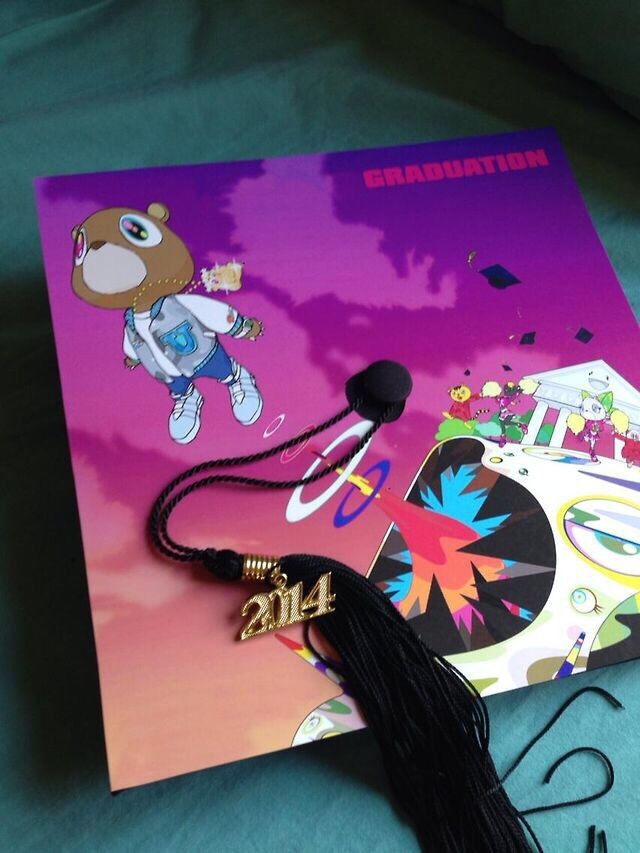 Kanye West Graduation Cap Creative Graduation Caps High School Graduation Cap Decoration Graduation Cap Decoration