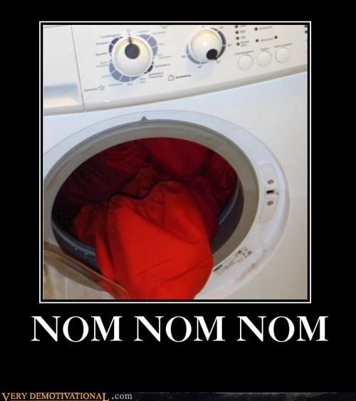 This explains just how and why socks get eaten while doing laundry.