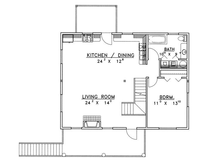 2nd Floor Plan,012G-0099 garage with appartment Pinterest
