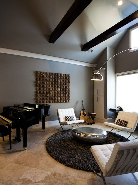 Modern Music Room Lovely Masculine And Femine Perfection