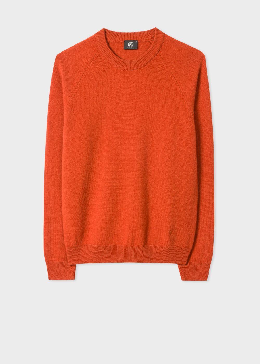 Men S Burnt Orange Merino Wool Raglan Sleeve Sweater Knitwear Men Sweaters Raglan Sleeve Sweater [ 1400 x 1000 Pixel ]