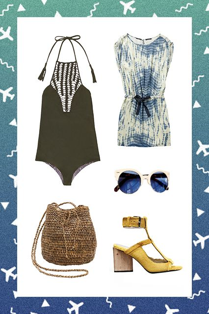 Somewhere Warm If the sun is calling your name, it's time to refresh your swimwear and coverups. Same goes for shoes with open toes (yay!), sunglasses, and any items with a summery vibe.