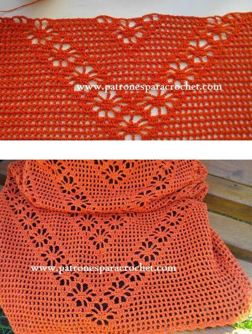 Vestido Crochet Filet y Punto Araña / Paso a paso ~ Patrones para ...