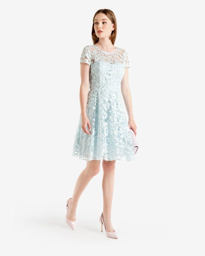13994b80f4d Floral Lace Dress Light Blue Dresses Ted Baker Uk Things I