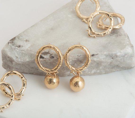 Round Post Earring Stud Earrings Charm Earrings Jewelry Making