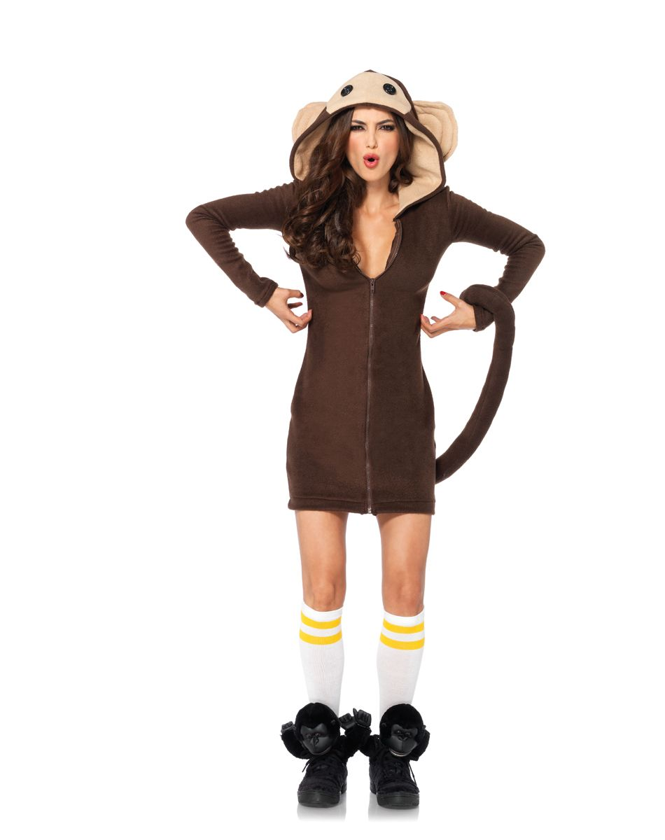 Monkey Hooded Dress Adult Womens Costume at Spirit Halloween - If ...