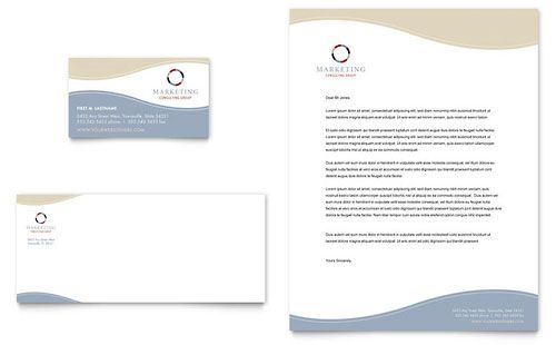 Marketing Agency Letterhead Templates Professional Services - free business letterhead templates download