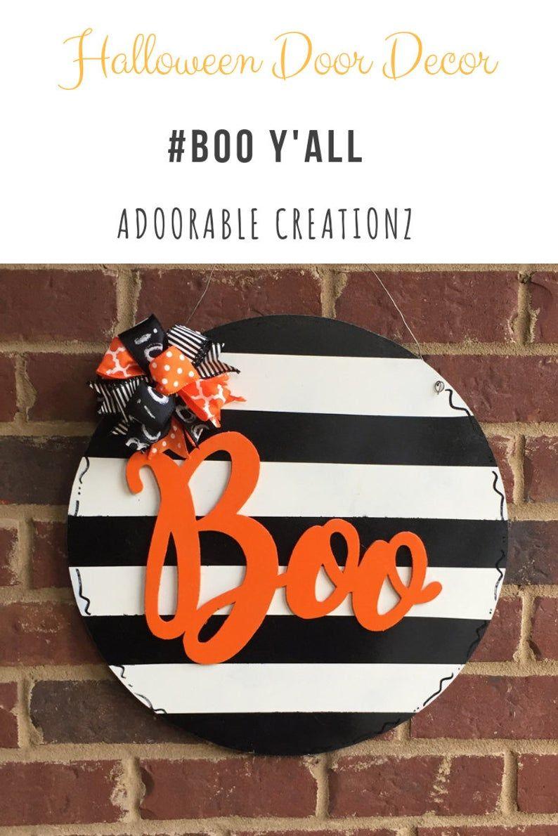 Boo Door Hanger Wooden Door Hanger Halloween Door Hanger