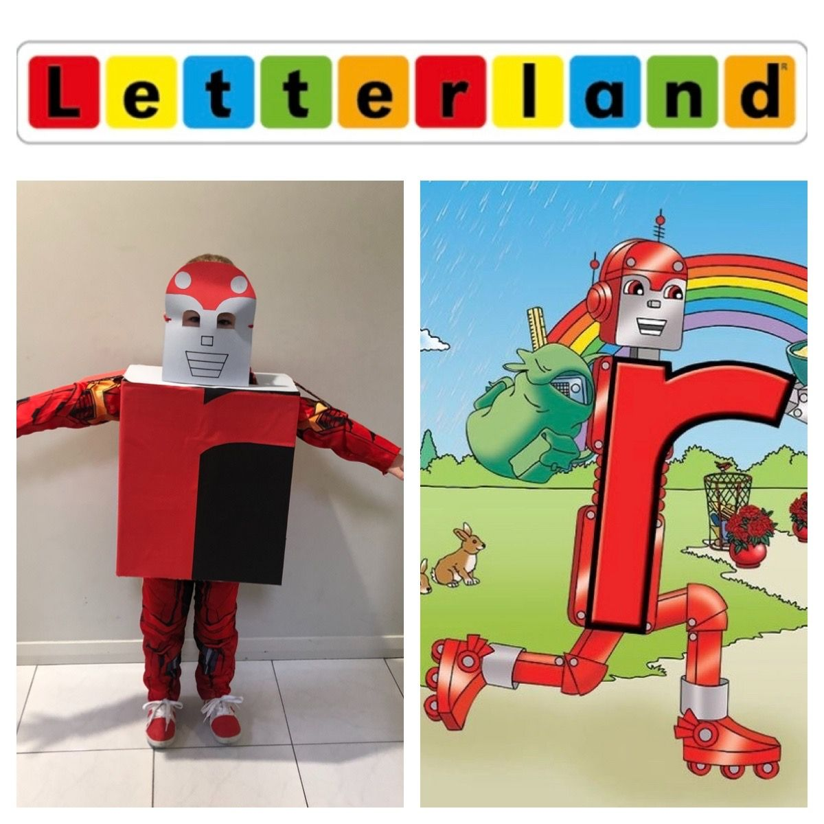 Book Week Costume Red Robot From Letterland In