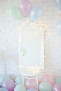 lights pastels and balloons :)