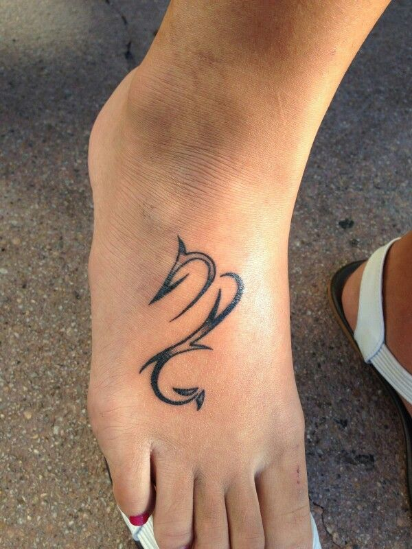 Scorpio Sign Foot Tattoo Black N White Tattoo Ideas Scorpio