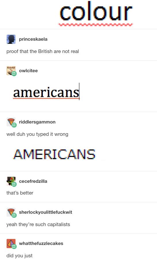 On spelling: