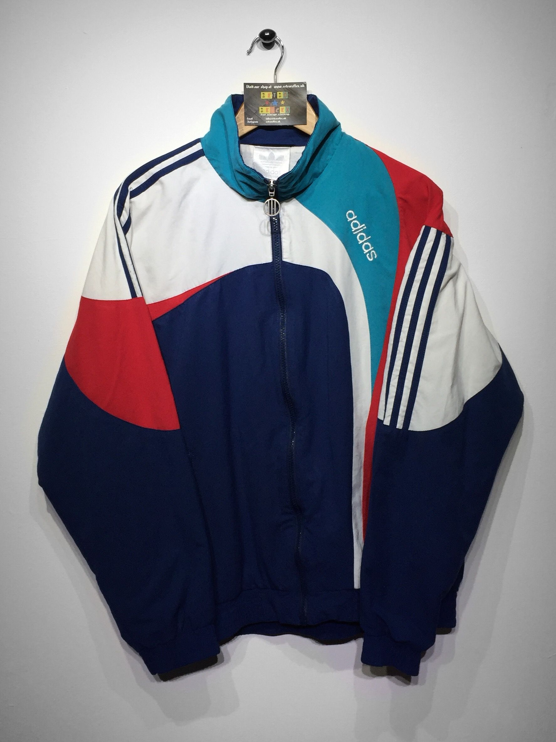 Adidas Track Jacket Fashion Vintage Windbreaker Retro