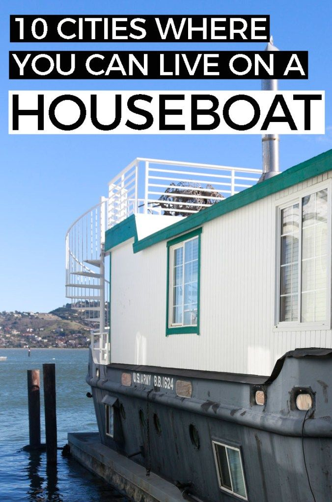 10 Urban Places to Live on a Houseboat  Check out these 10 houseboat communities that are in or near cities. #houseboat #floatinghome