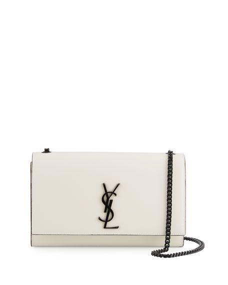 3049ec10a7 Monogram Kate Medium Chain Bag White/Black in 2019 | Handbags ...