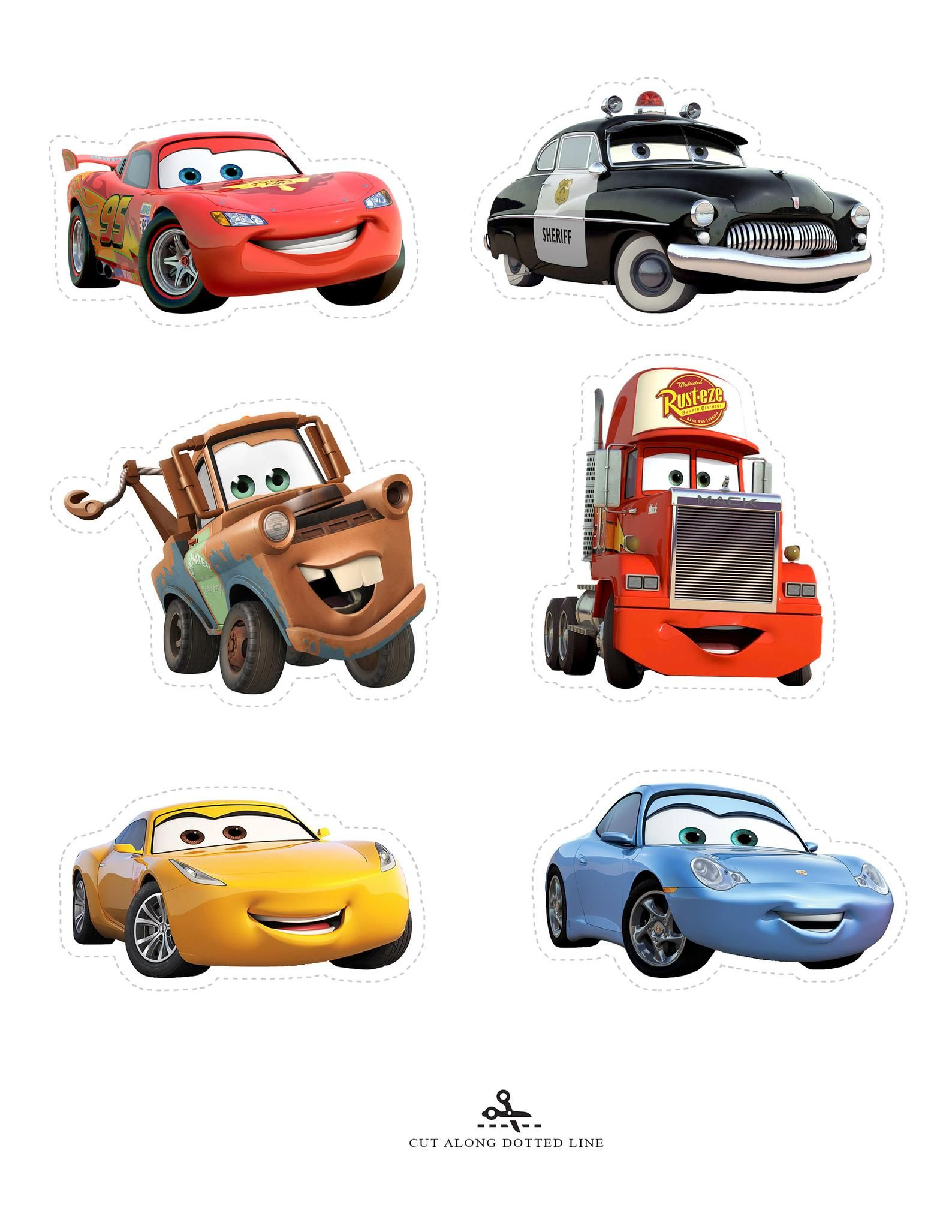Disney Pixar Cars Cupcake Toppers Cars Cake Toppers Lightning
