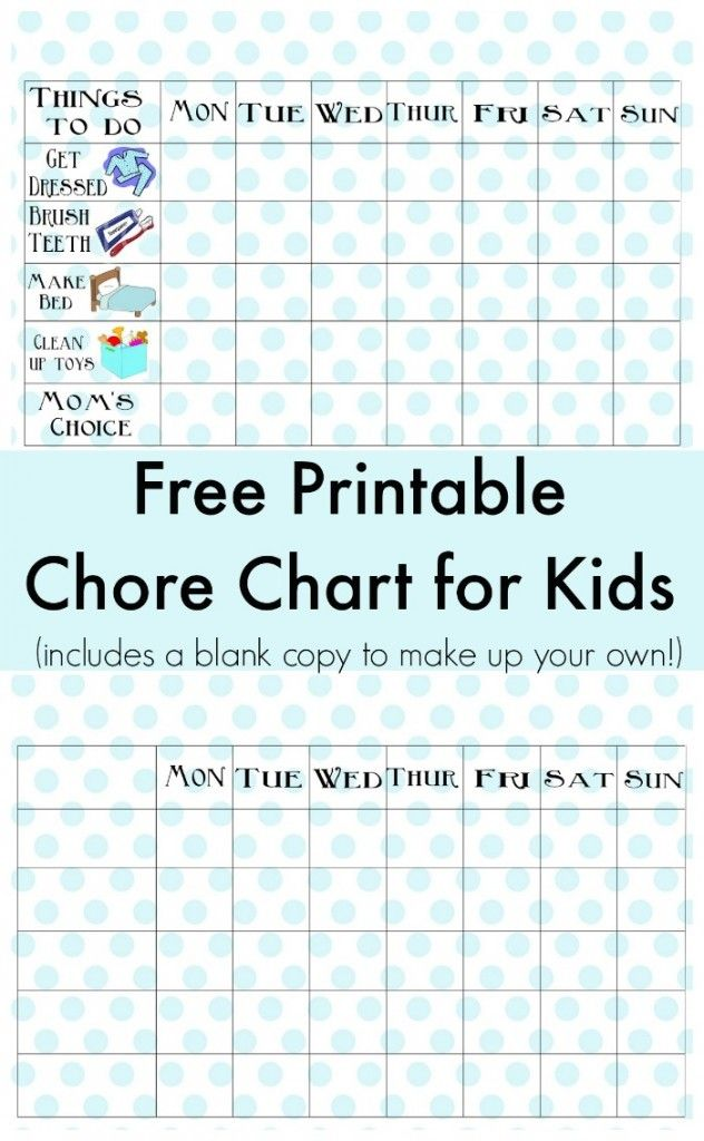 Free printable chore chart for kids there   even  blank to write in jobs older also fashion rh pinterest