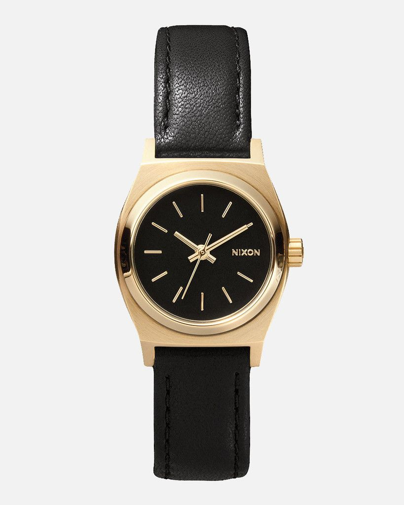 time watch novedad gold leather teller black accesorios small reloj pin watches nixon