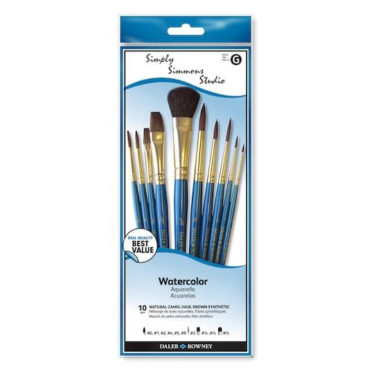 Simply Simmons Studio Watercolor Brush Set Michaels Brush