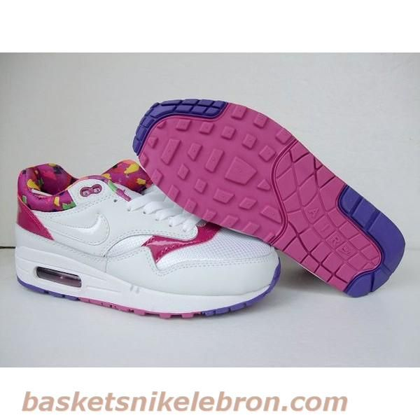 size 40 03df5 bee25 Nike Air Max 87 Blanc Violet Camo Couple Air Max Homme