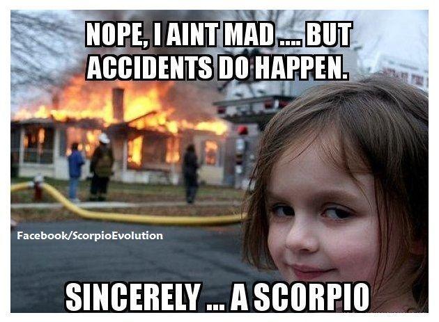 Funny Meme: AND THEN GOD CREATED THE SCORPIO Scorpio Gang ...
