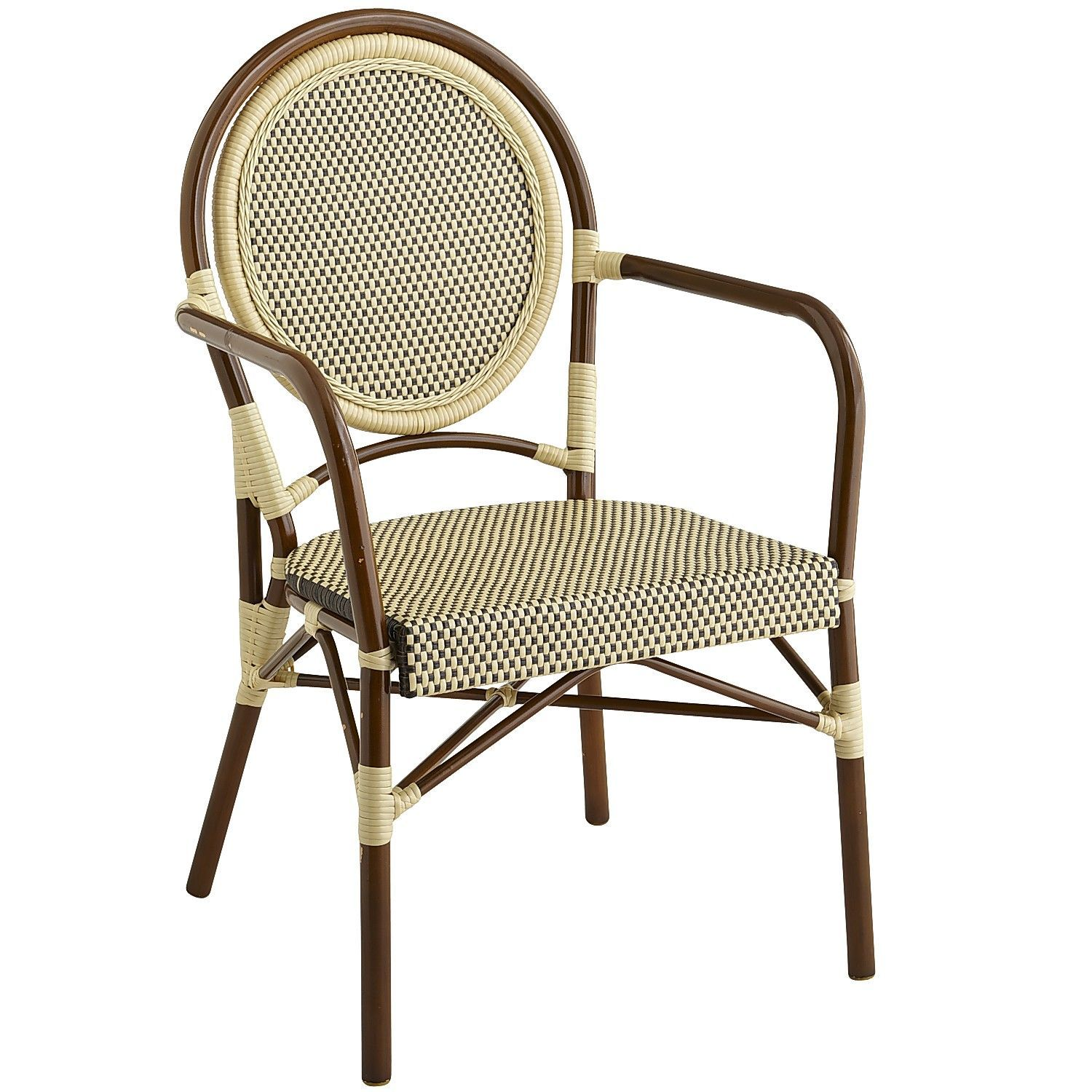 Sturdy Aluminum And Hardy, All Weather Synthetic Rattan Make A Handsome  Couple In This Striking Hand Woven Bistro Chair. And With A Solid  Foundation Like ...