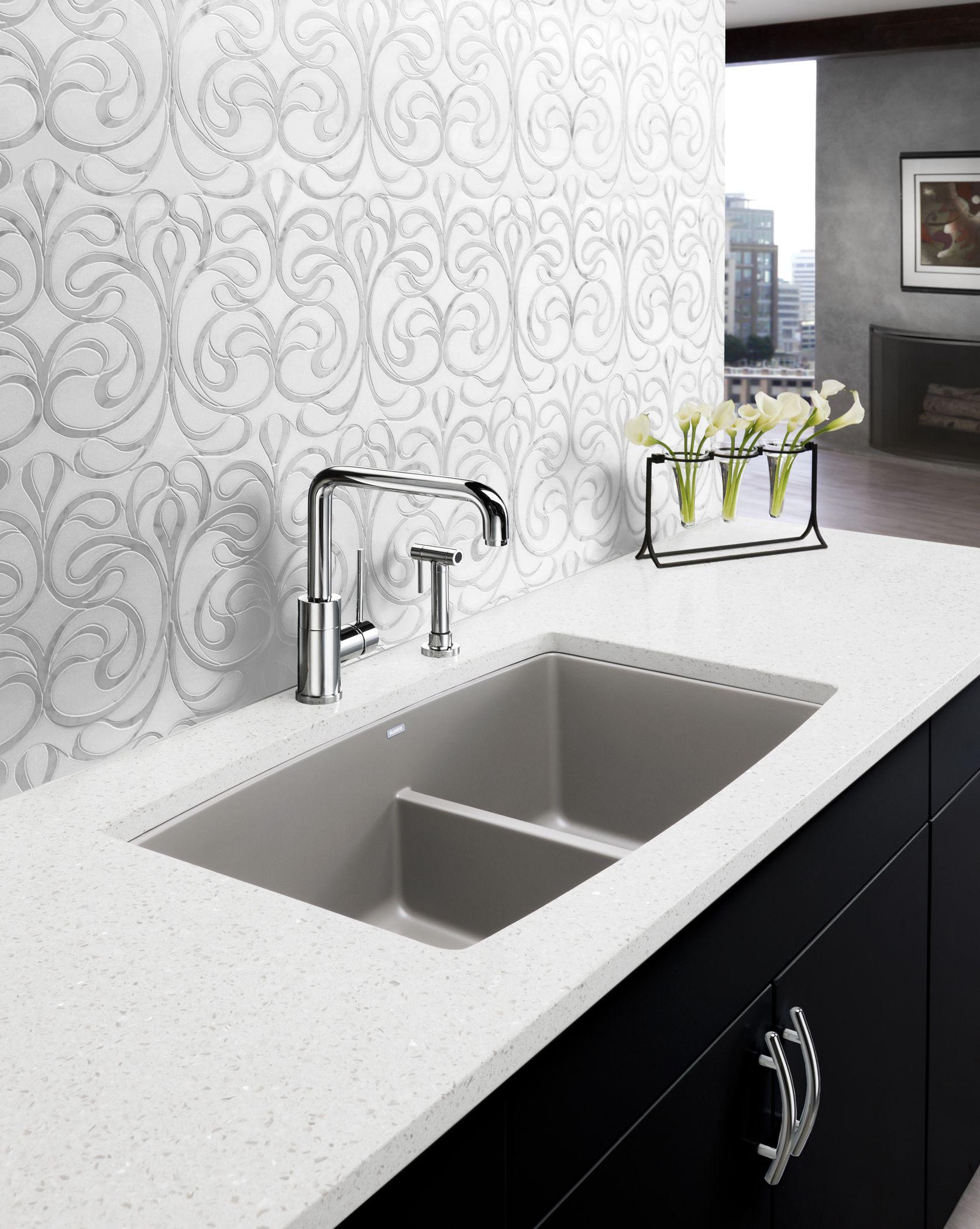 Beau PERFORMA Low Divide #kitchen #sink; @blancoamerica, Www.blancoamerica.com
