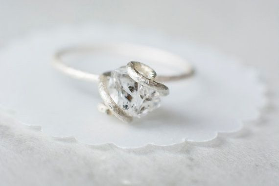 lovely Hermkimer diamond ring.