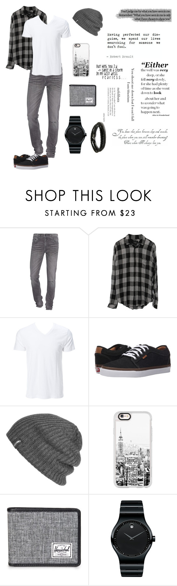 """3rd Menswear... Told ya it would be like this..."" by beachgirl511 ❤ liked on Polyvore featuring True Religion, Vans, Outdoor Research, Casetify, Herschel Supply Co., Movado, MIANSAI, men's fashion and menswear"