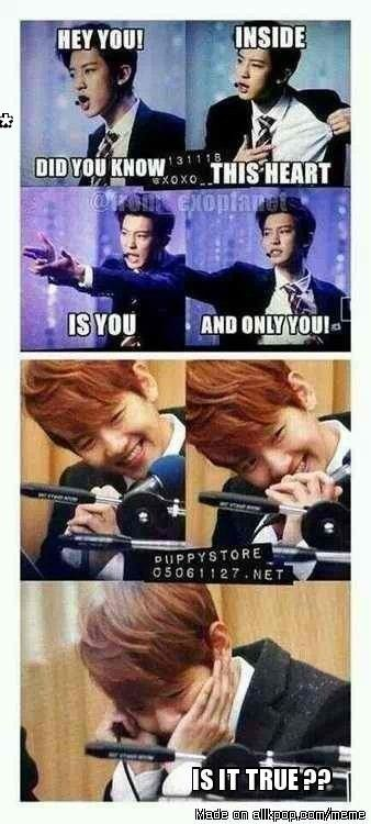 Omomomo!! I'd be like Baekhyun! #fangirling #baekyeol ..Meme Center | allkpop