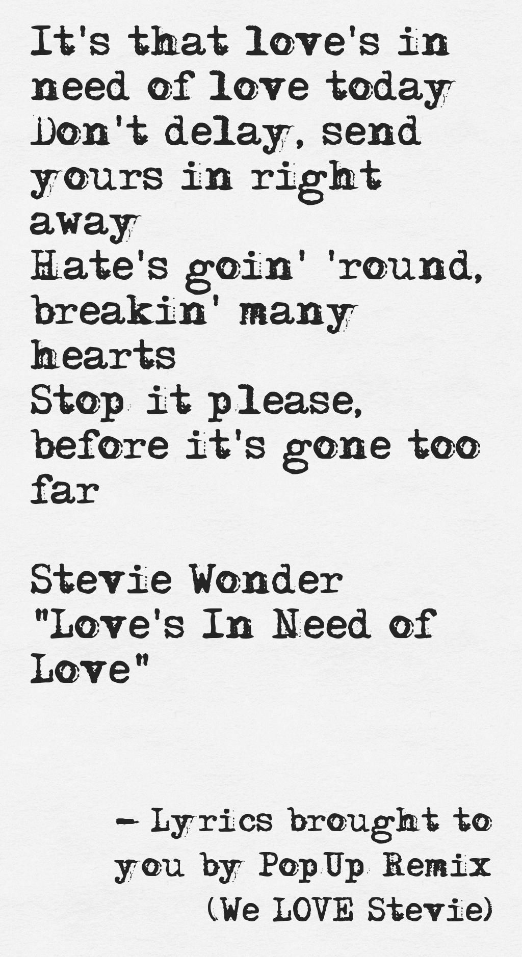Pinstamatic Get More From Pinterest For Today Lyrics Great Song Lyrics Stevie Wonder