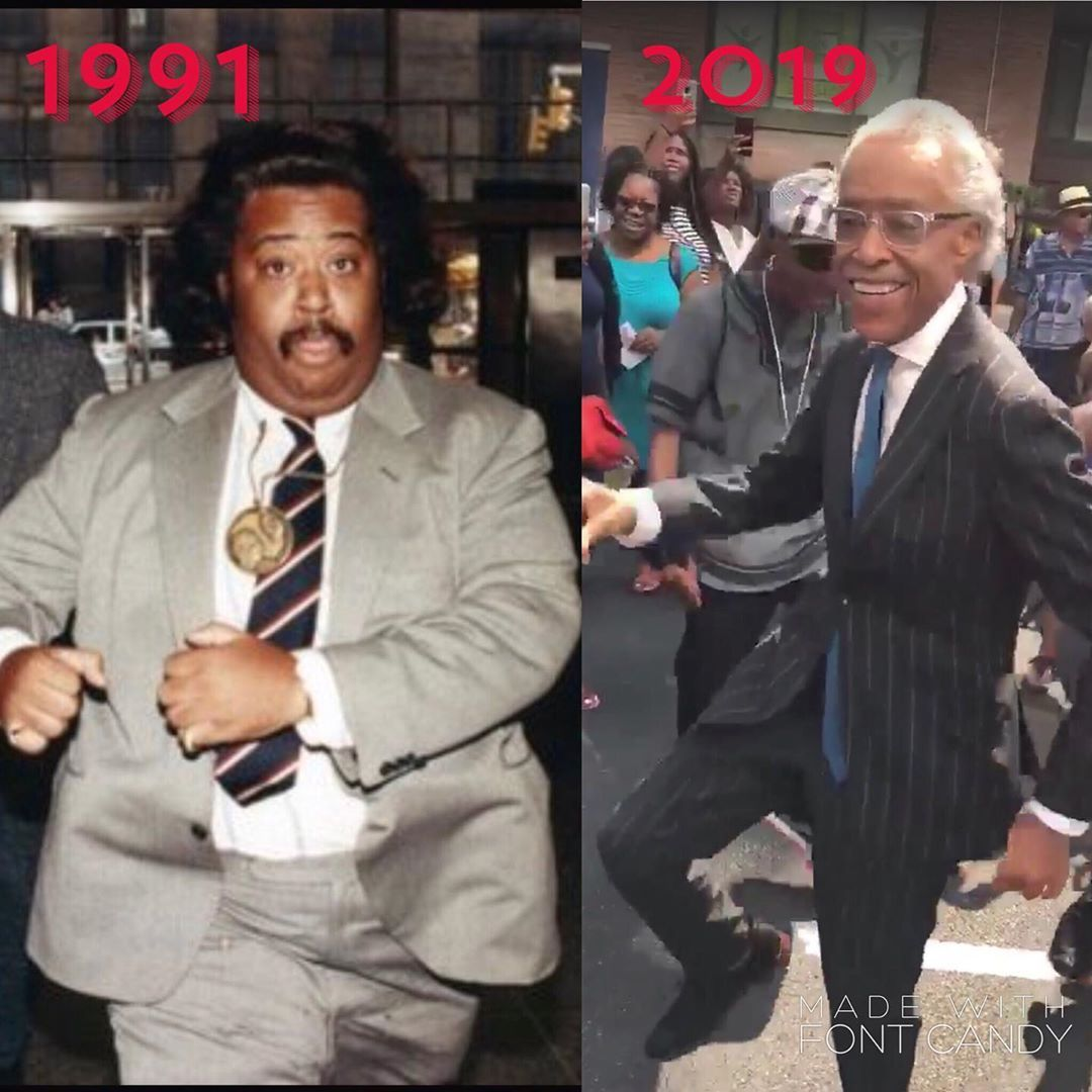 Alfred Charles Sharpton Jr. The dance moves haven't changed. But you got to love the transformation....