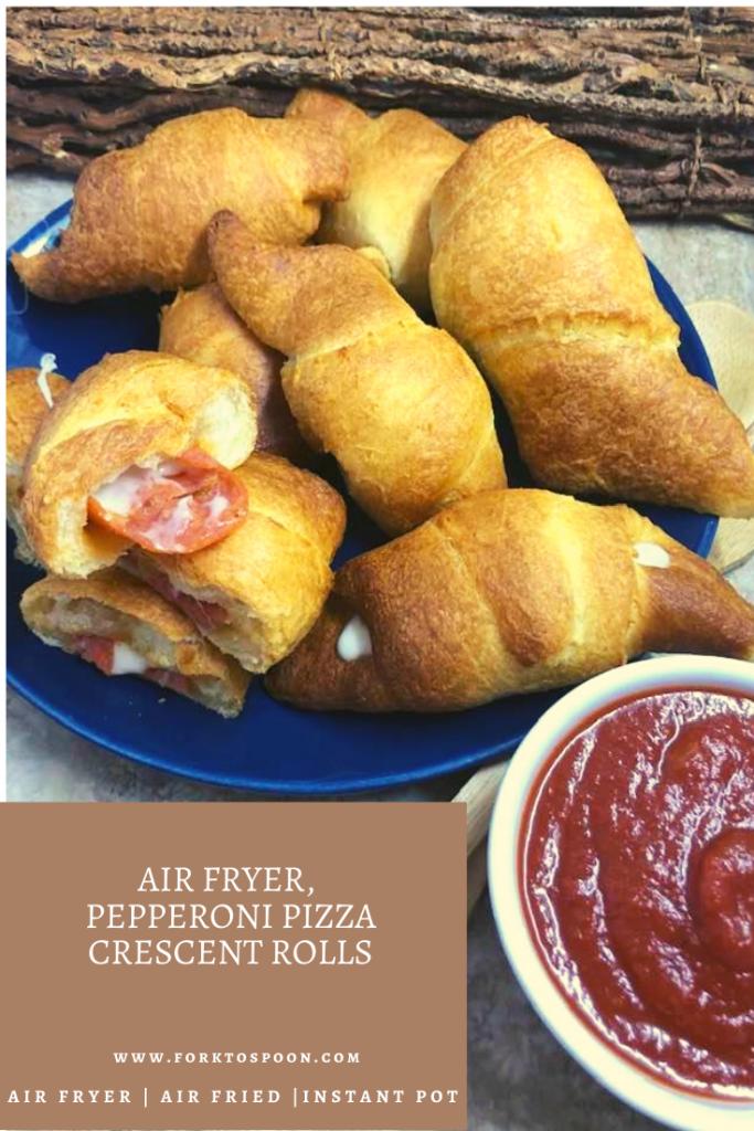 Air Fryer, Pepperoni Pizza Crescent Rolls Recipe