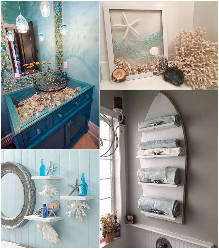 Sea Inspired Bathroom Decor Ideas Sea Bathroom Decor Bathroom Decor Beach Bathroom Decor