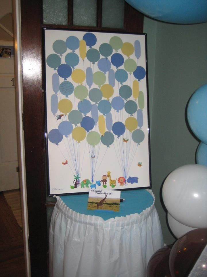 Baby Shower Sign In Balloon Die Cuts Dollar Store Animal Stickers