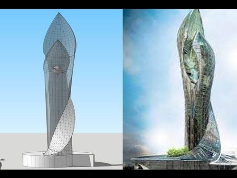 This video illustrate how to model skyscraper by SketchUp pulgins