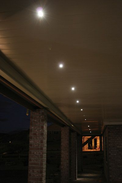 Led Recessed Down Lights Close Up Outdoor In