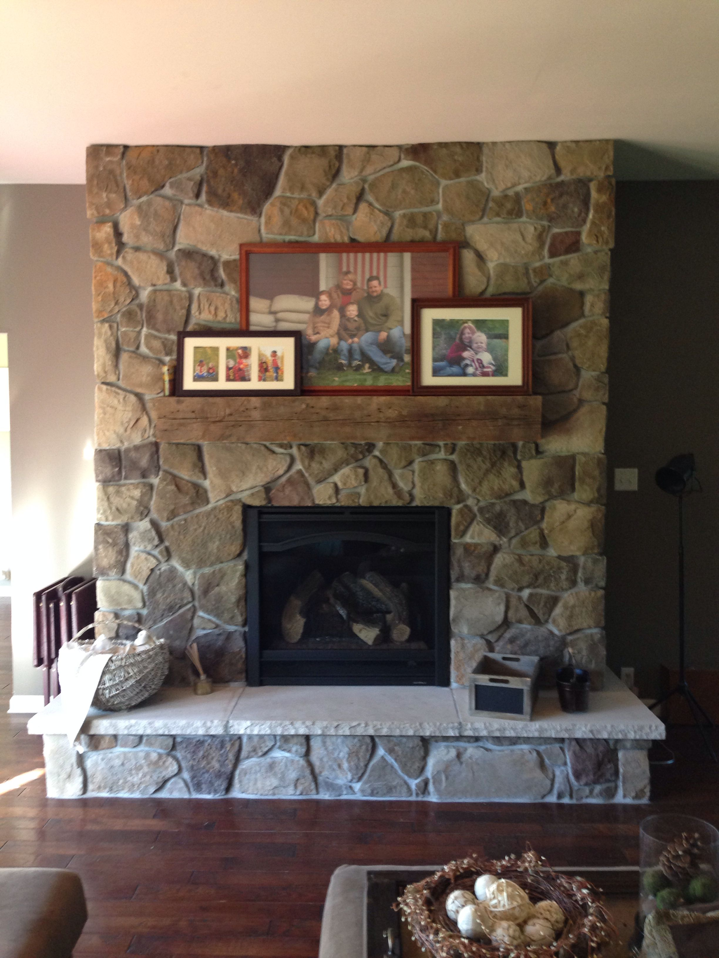 Super Bucks County Dressed Fieldstone Fireplace W Rustic Mantle Download Free Architecture Designs Ferenbritishbridgeorg