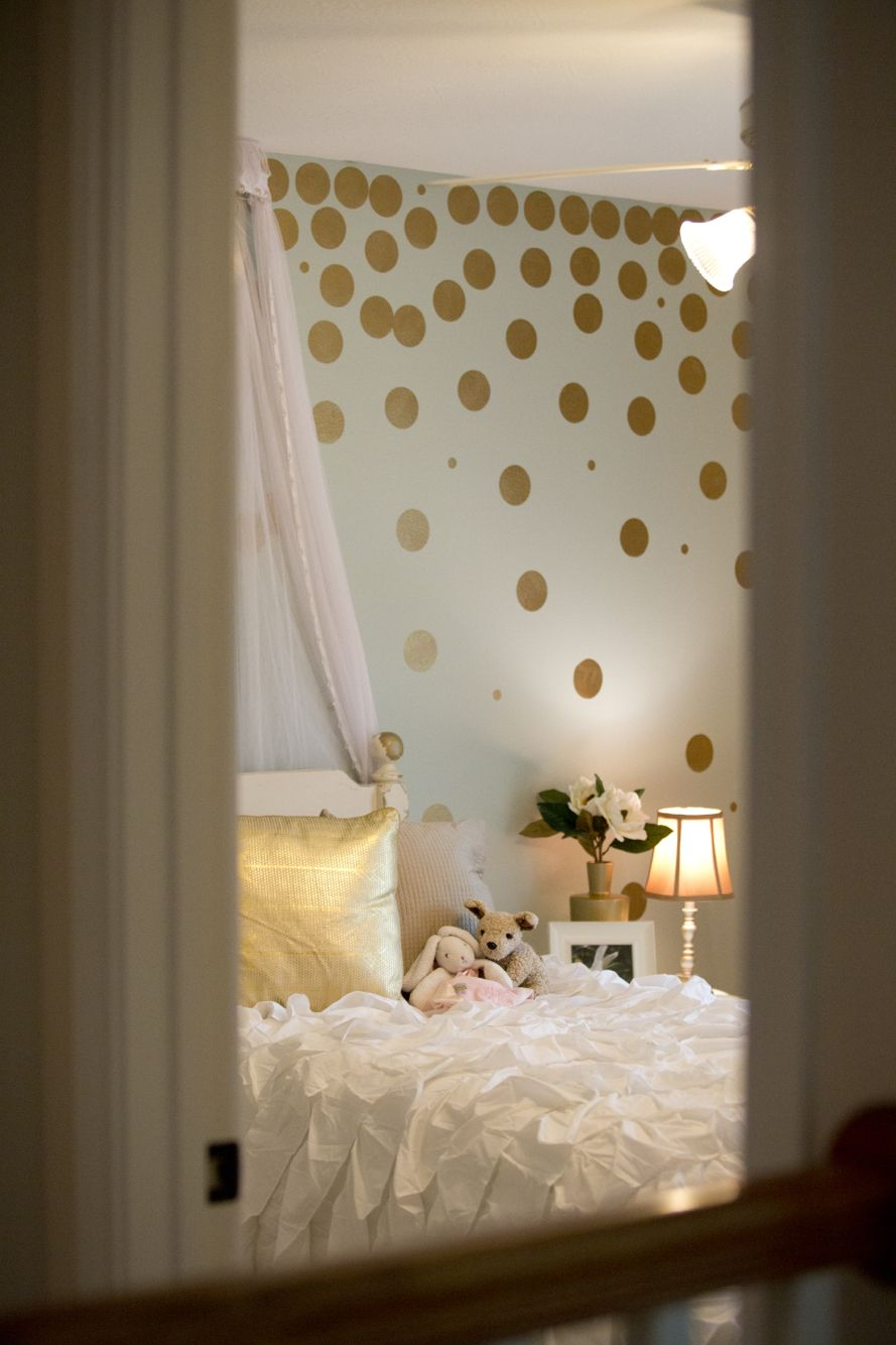 Little Girl Room Makeover Royal Design Studio Gold Polka