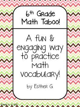 6th Grade Math Vocabulary Word Outlaw 6th Grade Math Pinterest