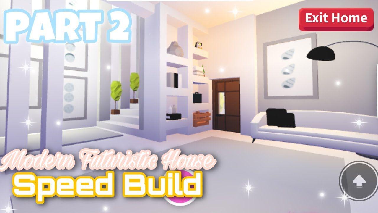 Modern Futuristic House Part 2 Speed Build Roblox Adopt Me Futuristic Home My Home Design Cute Room Ideas