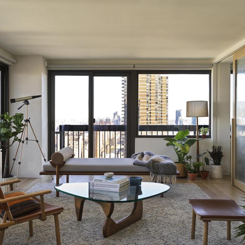 A Manhattan Apartment In A Brutalist High-rise Building In