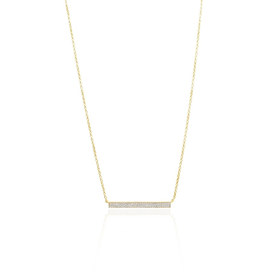 Freida Rothman Pavé Cubic Zirconia Bar Necklace L7IolzJlue