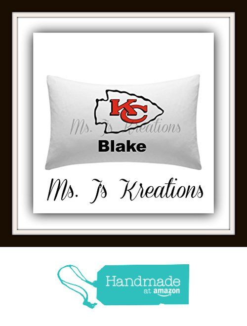 NFL KANSAS CITY CHIEFS Team PERSONALIZED Pillow Case w/Your Name.Makes a GREAT Gift from Ms. J's Kreations http://www.amazon.com/dp/B016BWNAH0/ref=hnd_sw_r_pi_dp_FpAjwb0FJ7BYF #handmadeatamazon