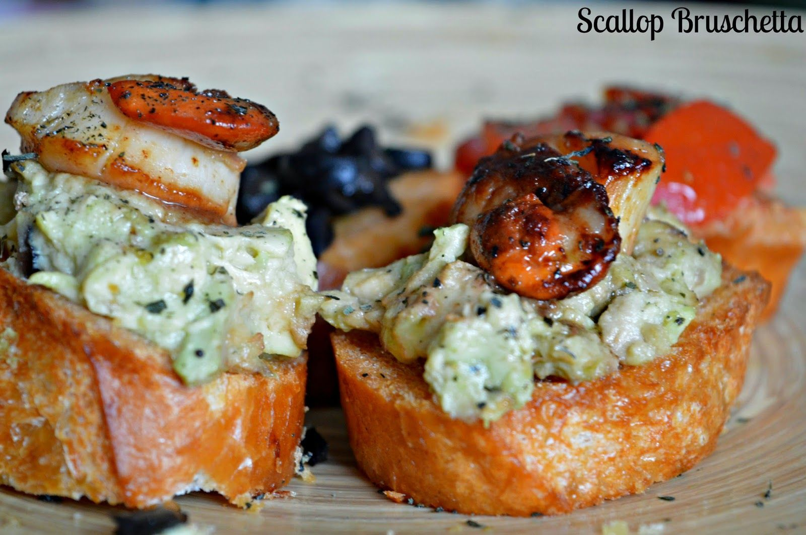 Tasty food for busy mums: Scallop Bruschetta