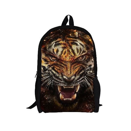 FORUDESIGNS 3D Printed Dinosaur Children Student Bag Cute Tiger Puppy Satchel Kids Schoolbag for Boys Children Bookbag Mochila