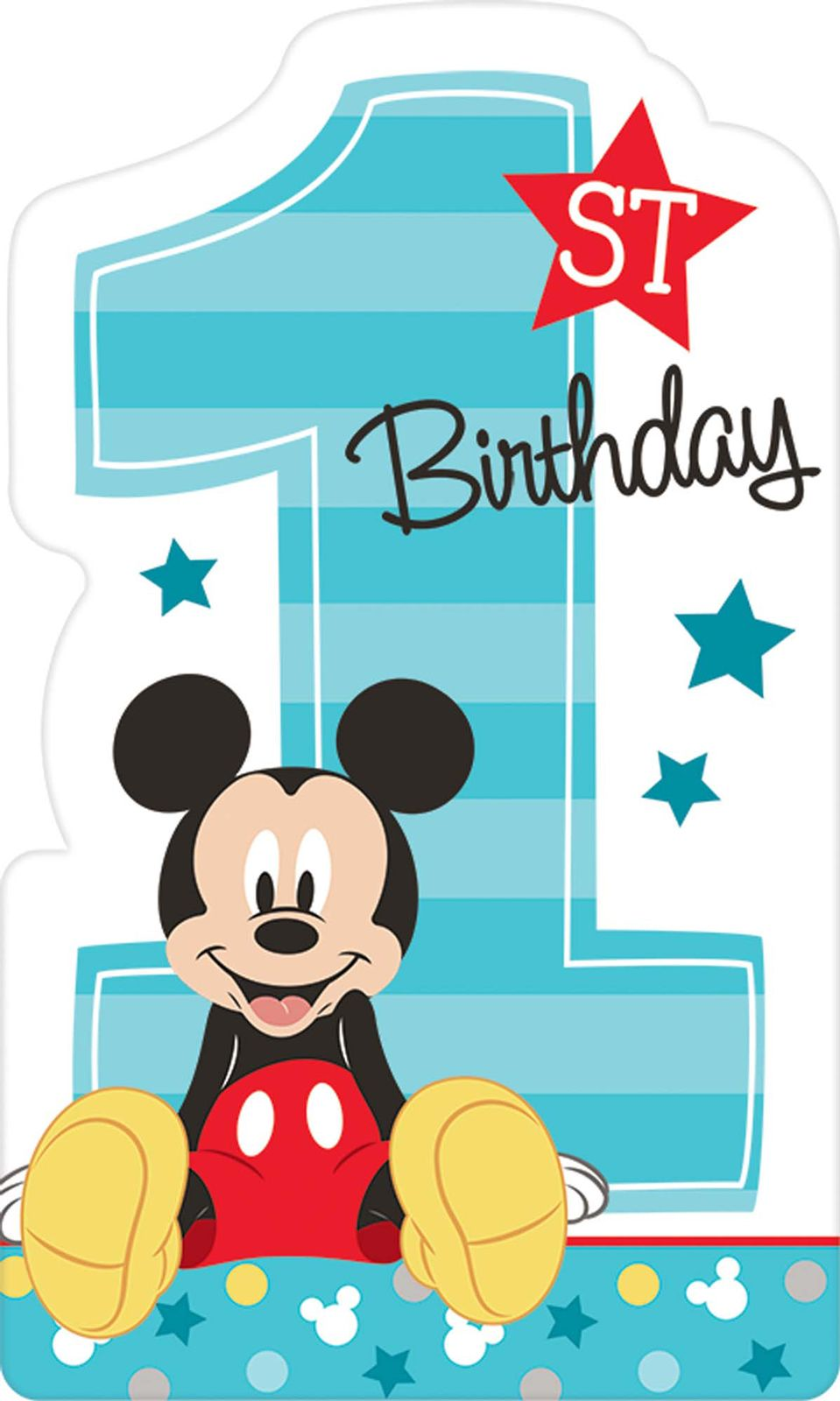 Mickey's Fun To Be One Postcard Invitations (8 Count) in