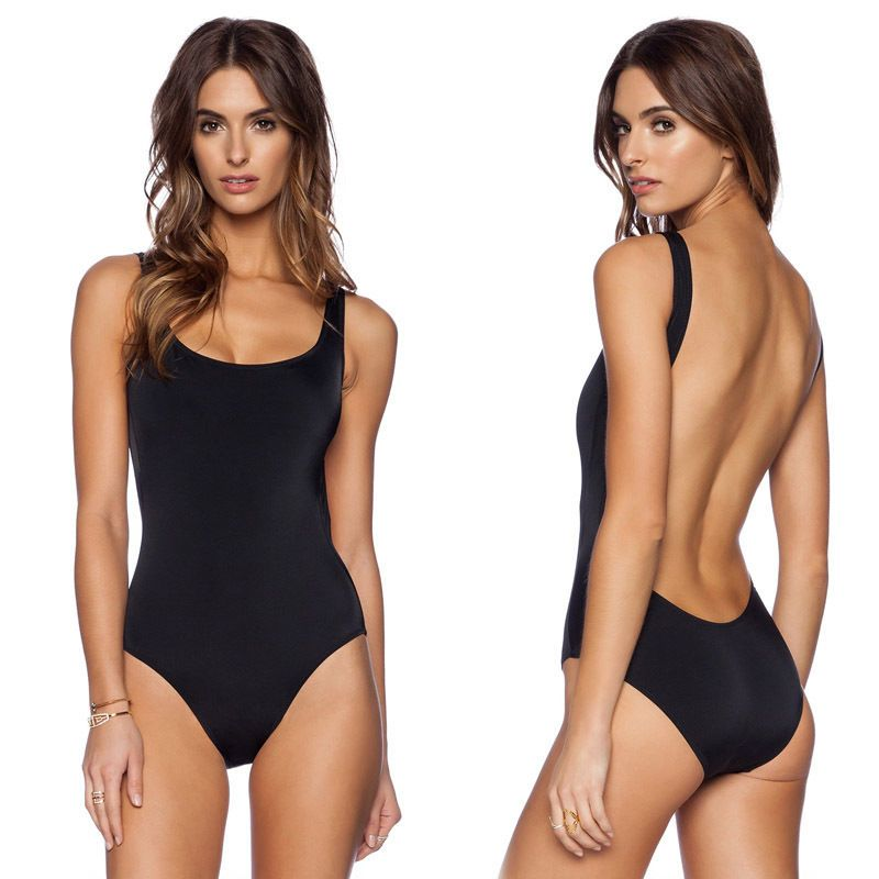 356ef6d622f8c Womens Sexy One Piece Swimwear High Cut Monokini Backless Swimsuit Bikini  Black  Unbranded  Monokini